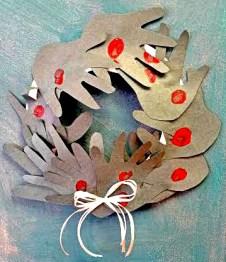 Hand Cutout Wreath
