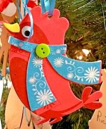 Foam Winter Cardinal Ornament for Christmas Tree