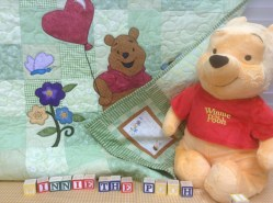 Hot off the needle - Winnie the Pooh quilt