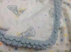 Crochet edge on blanket border