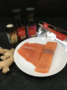 Buzymum -  Ingredients for chinese steamed salmon
