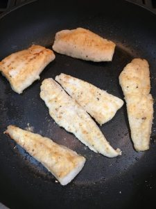 Golden hake fillets