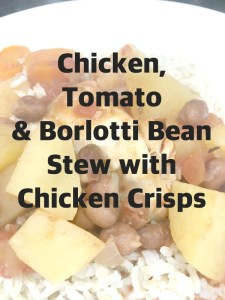 Buzymum - Pinnable image for Chicken, tomato and borlotti bean stew