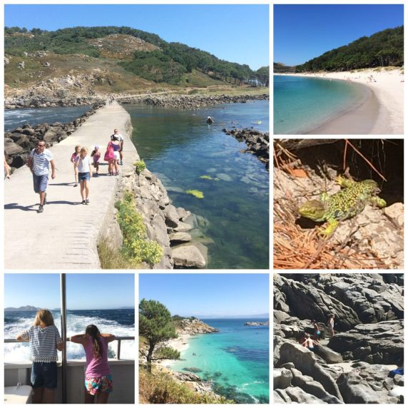 Buzymum - Collage of Baiona trip to Islas Cies