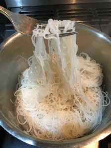 Buzymum - Rice noodles tossed in toasted sesame oil