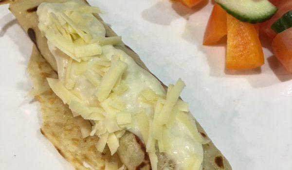 Buzymum - pork, apple, pancake, cheese sauce