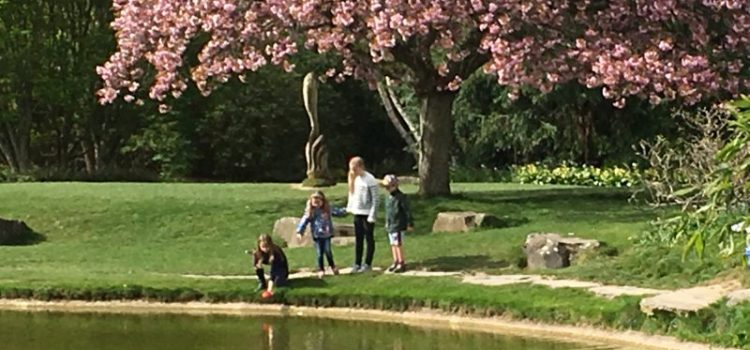 Buzymum - Lovely scene of the kids by the water at Cliveden