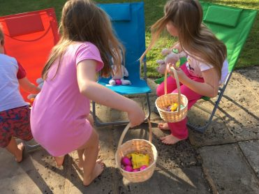 Buzymum - Clues led them to eggs on the garden chairs with bedtime toys