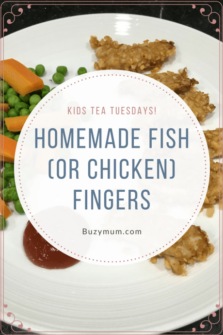 Buzymum - This homemade fish finger recipe is quick and easy and great for the kids to help prepare too! Substitute the fish for chicken to make chicken nuggets!