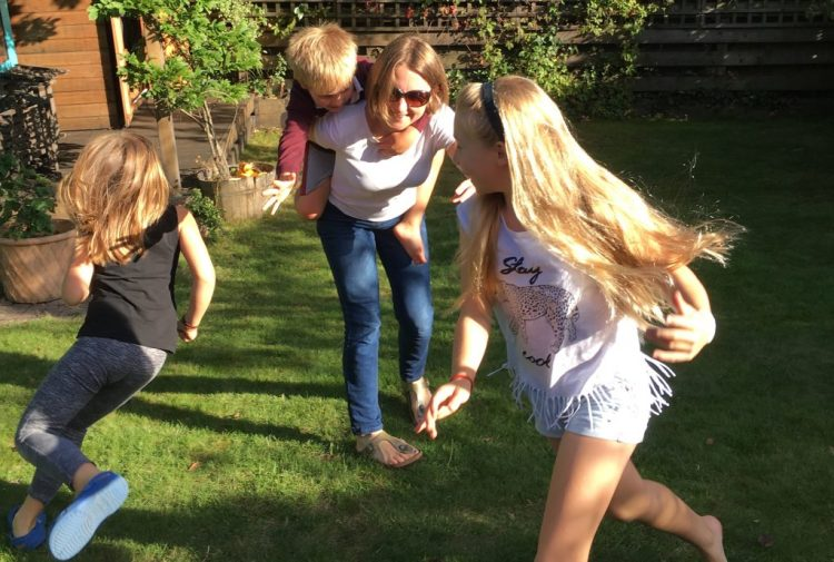 Playing with my children in the garden. They are my 'why' and my motivation to live healthily. They give me the will power I need to retain my motivation!