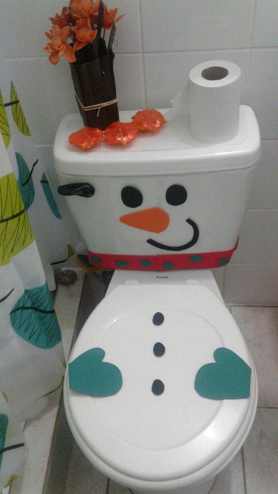 Christmas decor toilet