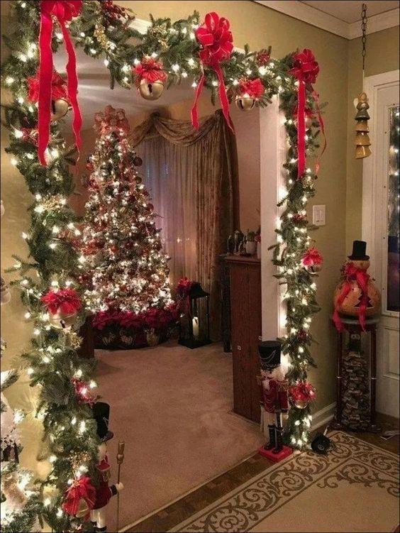 Christmas decor inside