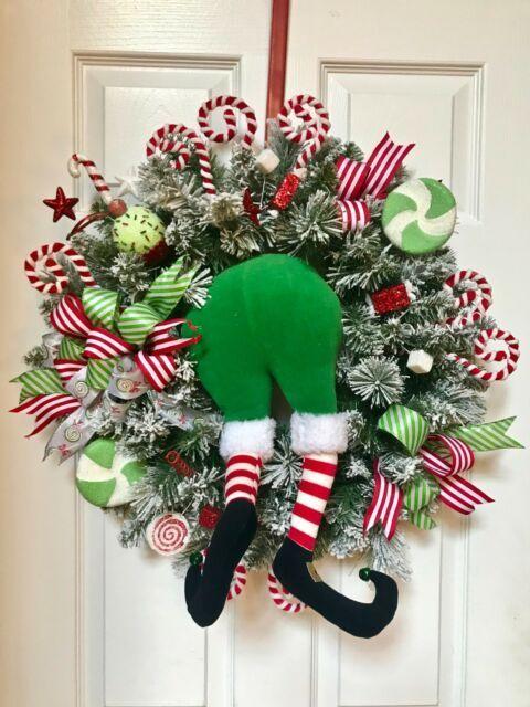 Christmas decor Wreaths with santa elf