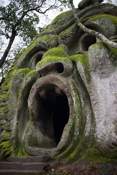 creepy cave statue to see