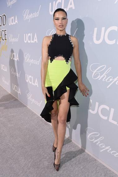 Adriana Lima celebrity dress and fashion