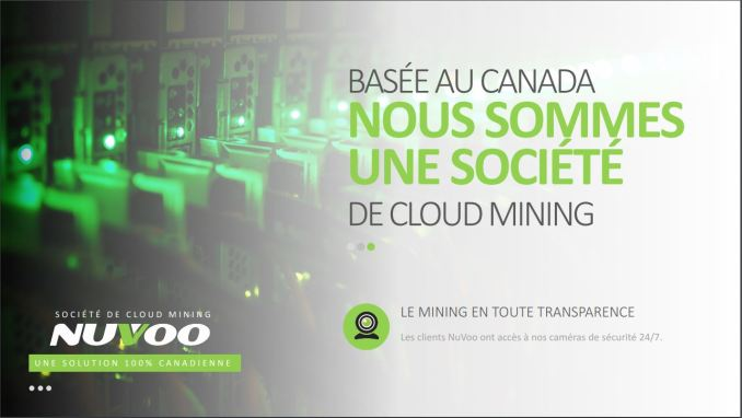 Nuvoo, minage de bitcoins de de cryptomonnaies