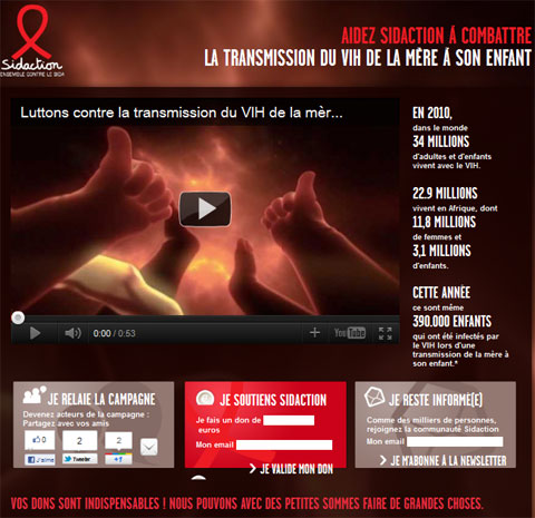 Campagne Sidaction 2011