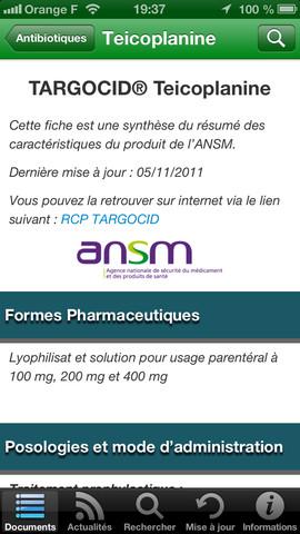 InfectioGuide : application mobile dans le domaine des maladies infectieuses