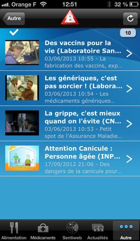 Lancement de l'application mobile Alertes sanitaires