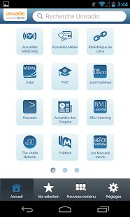 Lancement de l'application mobile Univadis