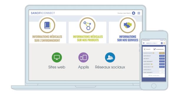 Avec Sanofi Connect, accédez en un clic aux services digitaux de Sanofi en France