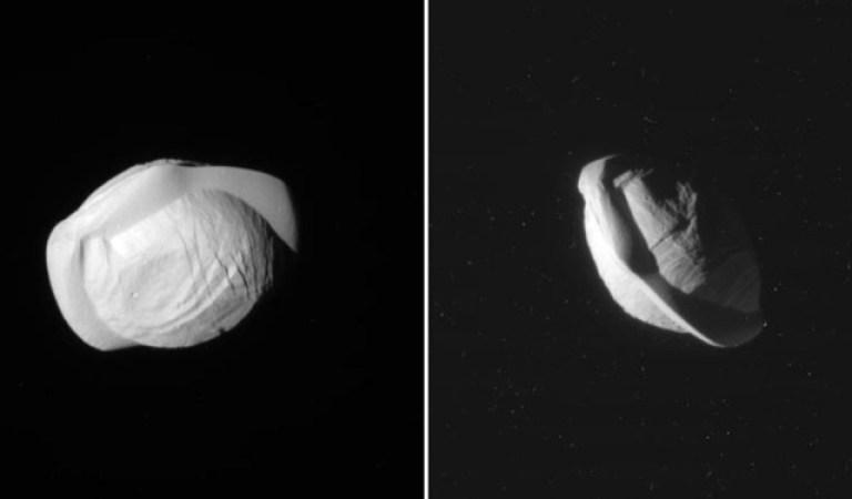 Satürn Uydusu Pan'ın Yakın Görüntüleri