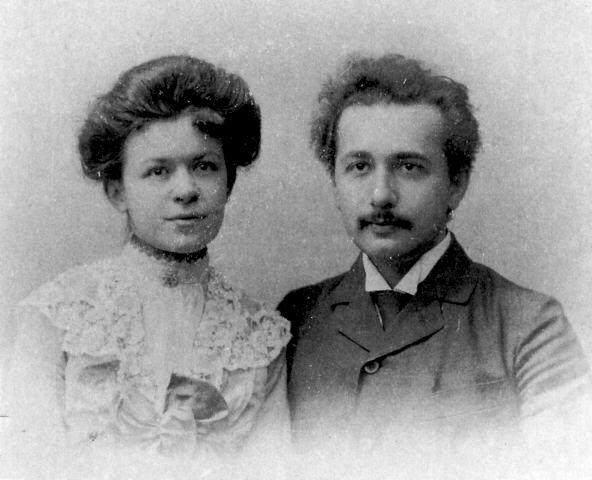 Albert-Einstein-with-his-first-wife
