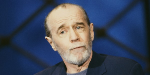 THE TONIGHT SHOW WITH JAY LENO -- Episode -- Pictured: Comedian George Carlin on November 18, 1992 -- (Photo by: Alice Hall/NBC/NBCU Photo Bank via Getty Images)