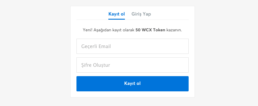 WCX Kayıt