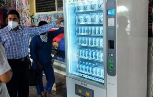 Indian Railways Install Machines to Dispense Mask & Sanitizer at Patna Junction