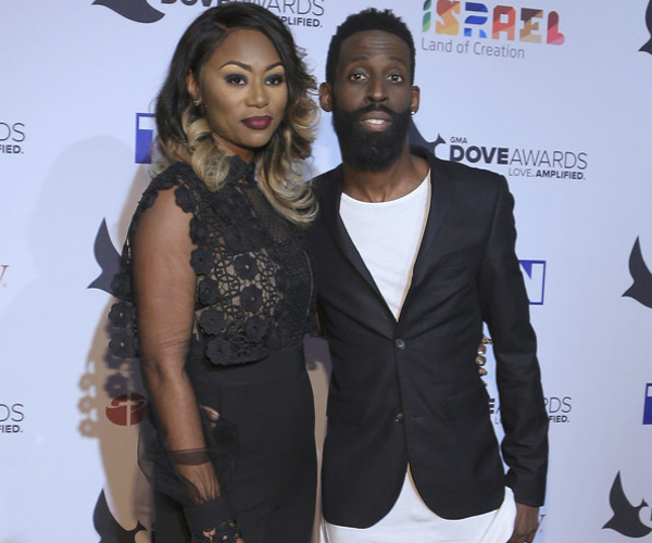 Tye Tribbett and Shante' Tribbett arrive at the 2016 Dove Awards at Allen Arena, Lipscomb University on October 11, 2016 in Nashville, Tennessee. (Photo Credit: Anna Webber/Getty)