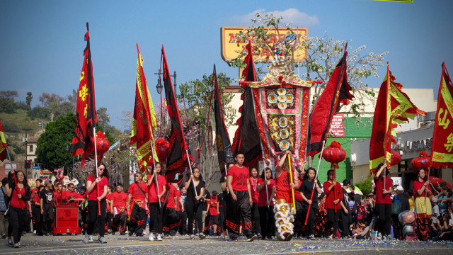Scene from last year's Golden Dragon Parade
