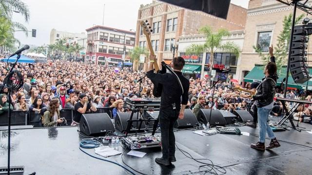 Atlas Genus on the main stage at Make Music Pasadena 2016 (Photo by Carl Pocket)