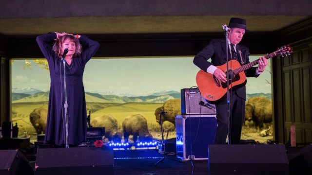 John Doe & Exene at the Natural History Museum (Photo by Samuel C. Ware)
