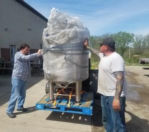 unloading tanks