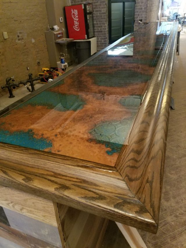 Finished bar top