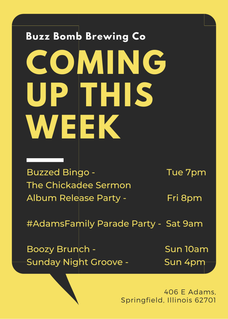 coming up this week