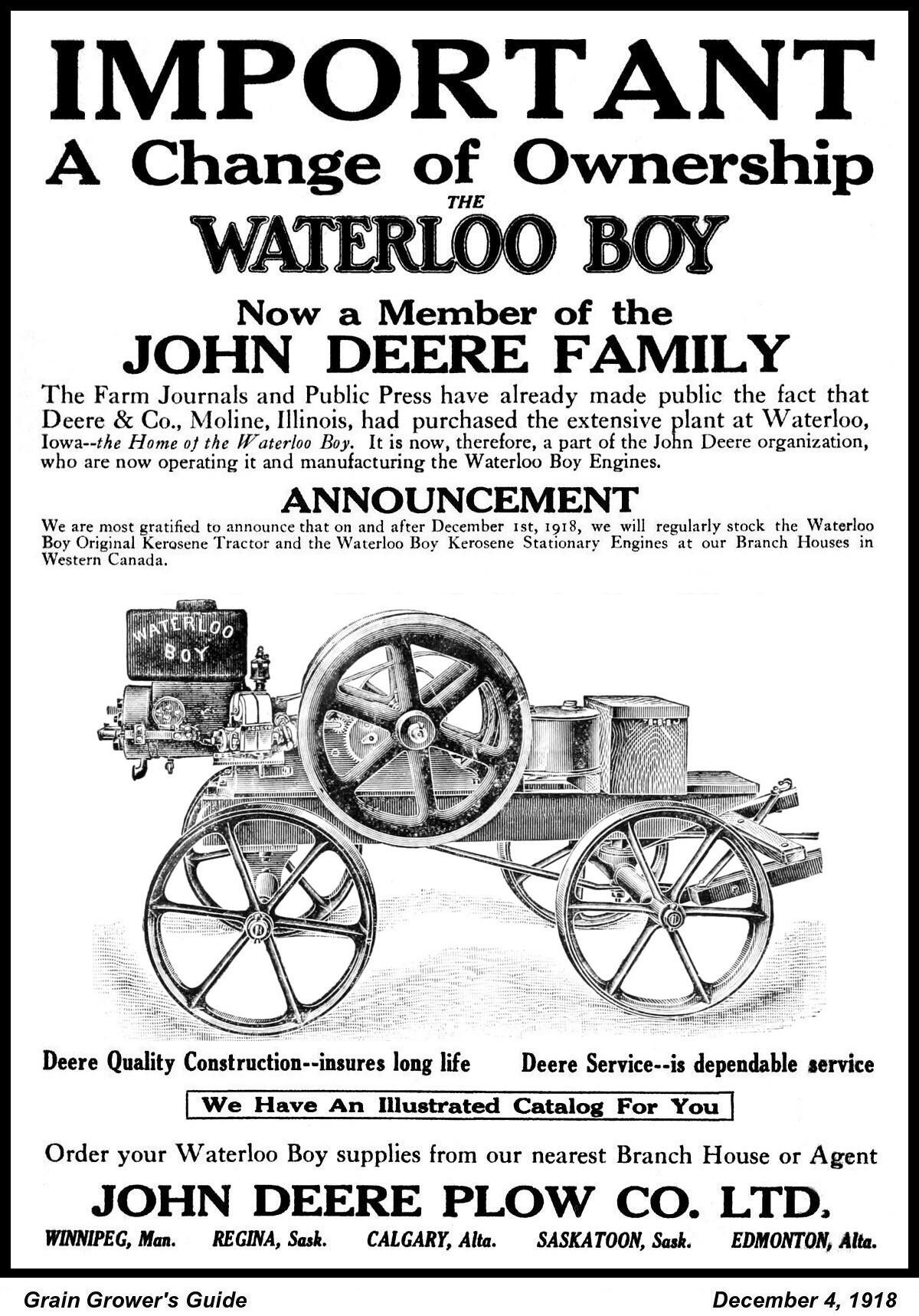 Waterloo Boy Now By John Deere