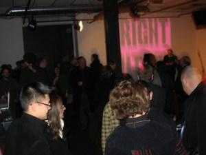 The crowd inside Vivo.