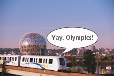 Trains, buses, and more will be making noise for the Olympics on Thursday! (Yes, I like writing speech bubbles for trains and buses.)