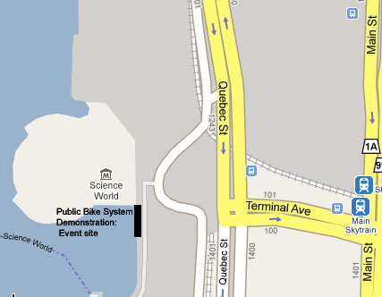 A map of the demo location.