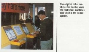 The original SeaBus ticket machine.