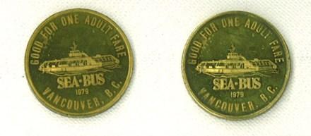 Back side of the SeaBus token