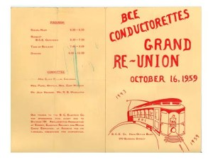The cover of the 1959 reunion program. Courtesy of the Burnaby Village Museum.