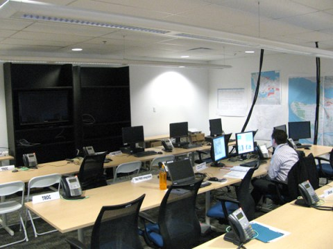 The Transportation Management Centre, setting up in advance of the 2010 Olympics Games.