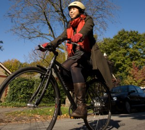 Yours truly, cycling the region to get you the inside scoop on transit and the Olympics.