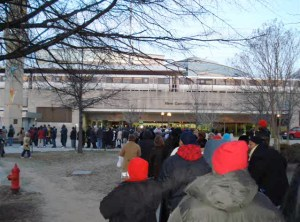 For the Obama inauguration, this lineup for the subway took 1.5 hours.