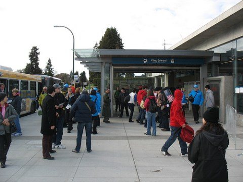 Crowds at King Edward Station.