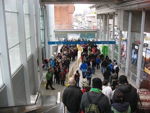 Bustling Richmond-Brighouse Station.