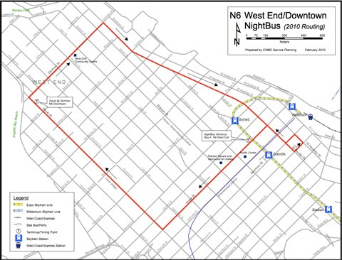 New Olympic reroutes for the N6. Click to download a PDF version of the map.